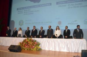 Mesa de trabalhos do seminário contou com representantes de poderes e órgãos de Rondônia, além de autoridades convidadas