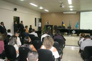 O instrutor do TCE/Escon, Laércio Fernando, ministrou a palestra de abertura do seminário