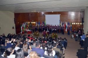 A Cantata de Natal encantou a todos os presentes no auditório do TCE-RO