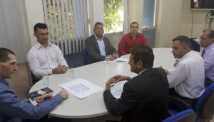 A equipe do Profaz, coordenada pelo conselheiro Benedito Alves, foi recepcionada pelo delegado da Receita em Porto Velho, Reriton Gomes