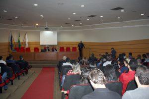 O conselheiro Wilber Coimbra ministrou  palestra durante evento realizado no auditório da OAB-RO