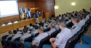 A capacitação para os futuros oficiais da PM, que foi aberta com palestra ministrada pelo conselheiro  Wilber Coimbra, encerrou-se na última terça-feira