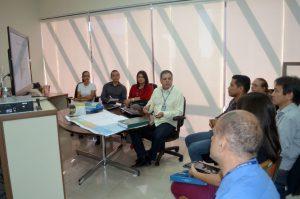 O secretário de Planejamento do TCE, Juscelino Vieira, durante a apresentação do Plano Estratégico 2016/2020 aos representantes do Iperon