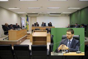 O Pleno do TCE-RO elegeu nesta terça-feira, por unanimidade, o conselheiro Paulo Curi (no destaque) como presidente para o biênio 2020/2021