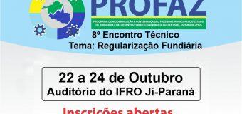 Abertas no portal do TCE-RO inscrições para o 8º Encontro Técnico do Profaz em Ji-Paraná