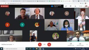 A reunião virtual contou com a participação de representantes do Profaz, da Arom, do TJ-RO e dos municípios