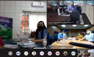 Durante a reunião virtual, o auditor de controle externo do TCE-RO, Régis Ximenes, repassou aos gestores estaduais dados levantados em trabalho da SGCE